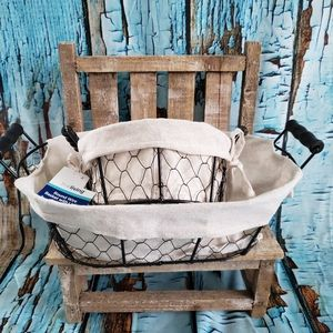 Farmhouse metal baskets home decor